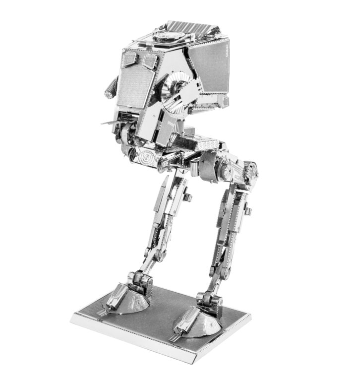 Metal Earth 1261 AT-ST Star Wars 3D-Metall-Bausatz Silver-Edition
