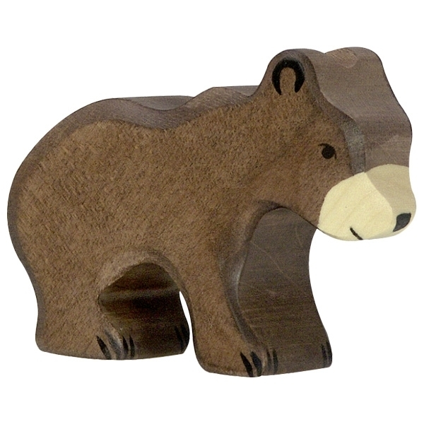 Holztiger 80185 brown bear small 7 cm Wood Figure Series Wild Animals