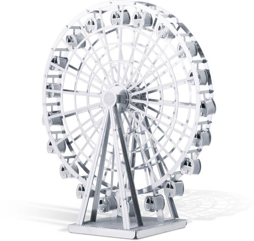 Metal Earth 1044 Riesenrad Ferris Wheel 3D-Metall-Bausatz Silver-Edition