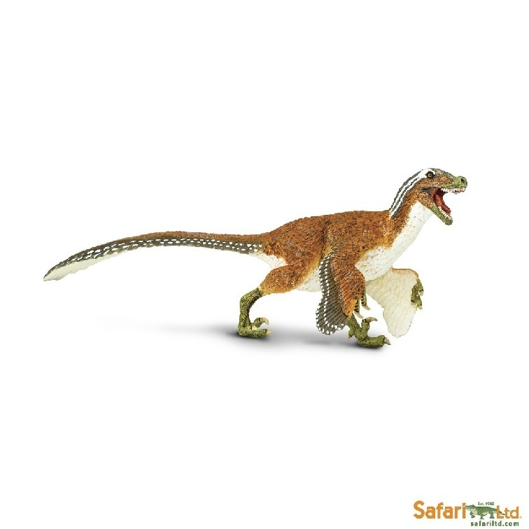 Safari Ltd 100032 Feathered Velociraptor 20 cm Series Dinosaur