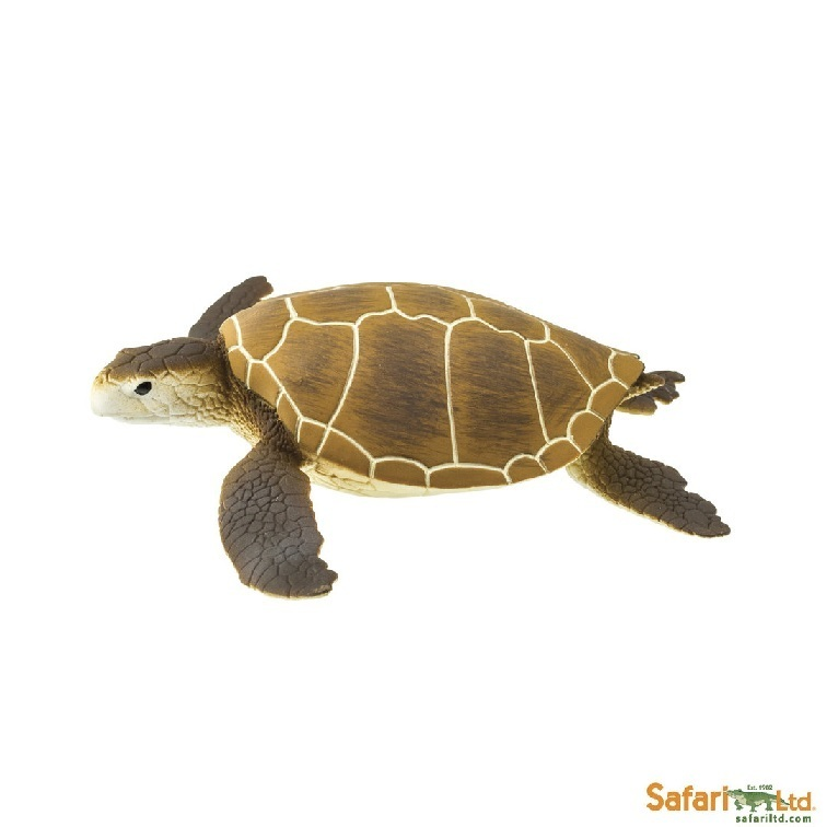 Safari Ltd 202329 Green Turtle 10 cm Series Water Animals