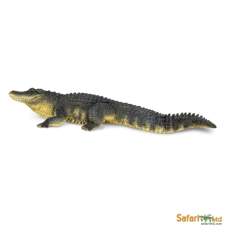 Safari Ltd 113389 Alligator 26 cm Serie Wassertiere