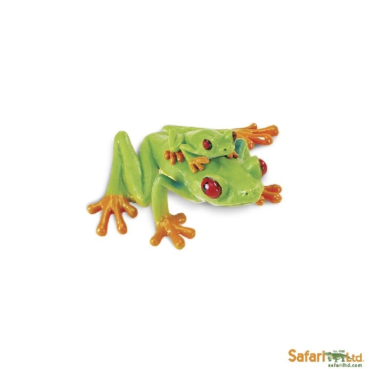 Safari Ltd 100120 Red-Eyed Tree Frog 5 cm Incredible Creatures
