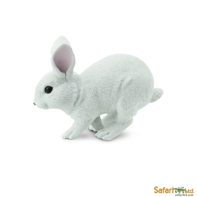 Safari Ltd 266629 white hare 11 cm Series Farmland