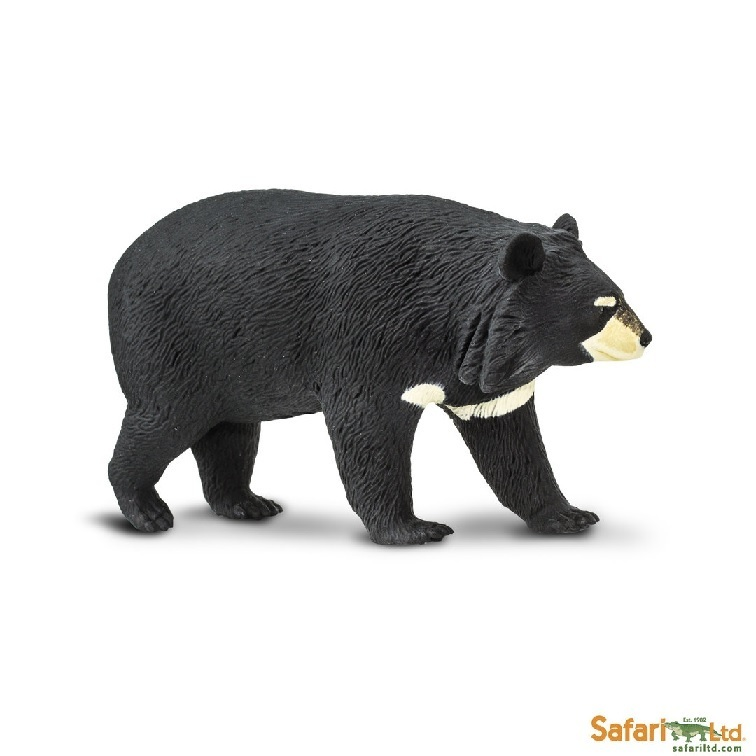 Safari Ltd 100044 Collar Bear 10 cm Series Wild Animals