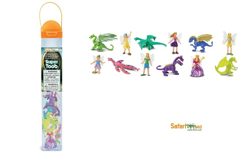 Safari Ltd 100104 Fairies and Dragons 12 Minifigures Series Topic Area