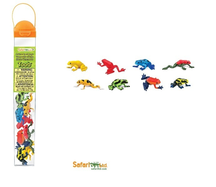 Safari Ltd 100121 Poison Dart Frogs (8 Minifigures) Topic
