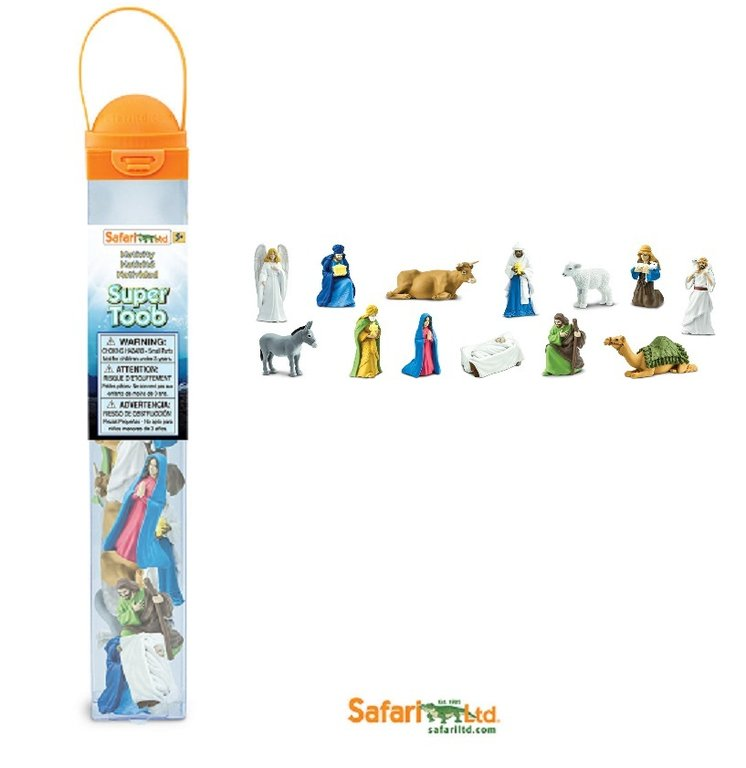 Safari Ltd 660504 The Christmashistory (13 mini figures) Series Tubos-Tube