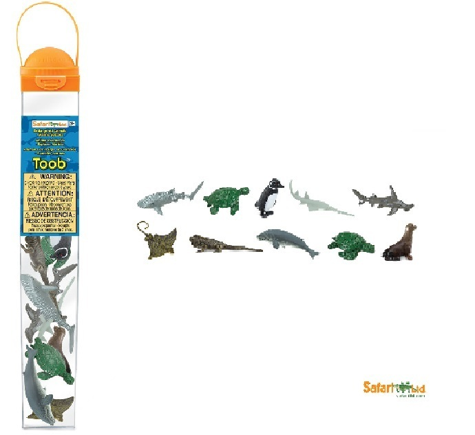 Safari Ltd 100110 Gefährdete Meerestiere 10 Minifiguren Themengebiet