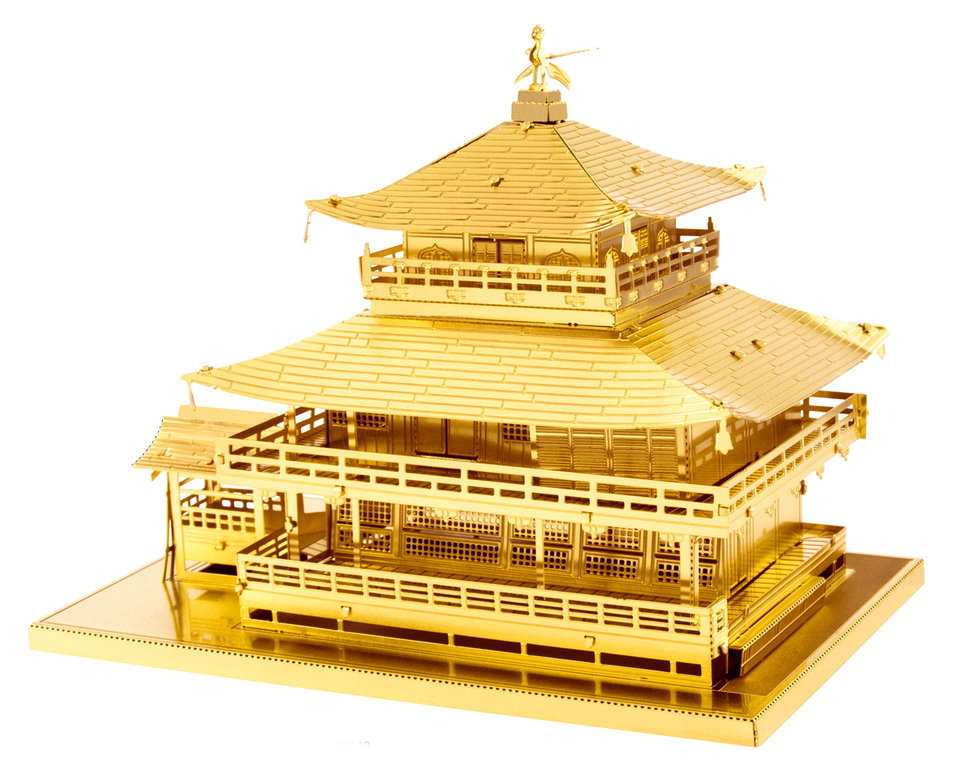 Metal Earth 1090 Kinkaku-ji Goldenes Modell 3D-Metall-Bausatz Gold-Edition