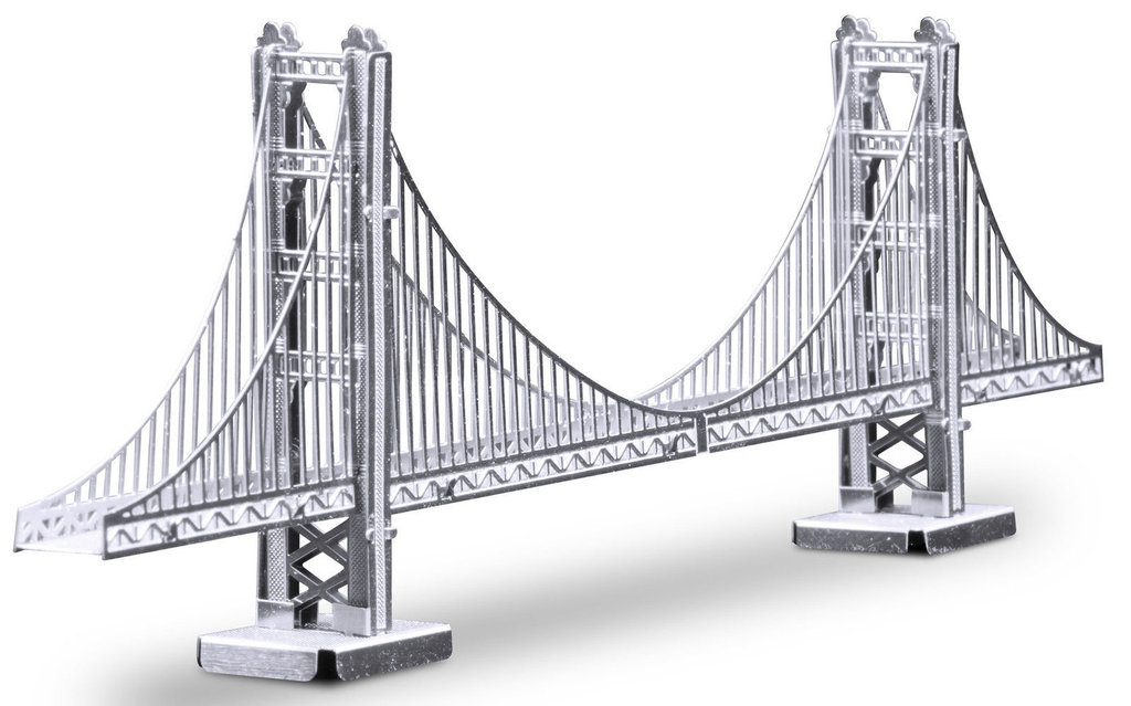 Metal Earth 1001 Golden Gate Bridge 19 Teile 3D-Metall-Bausatz Silver-Edition