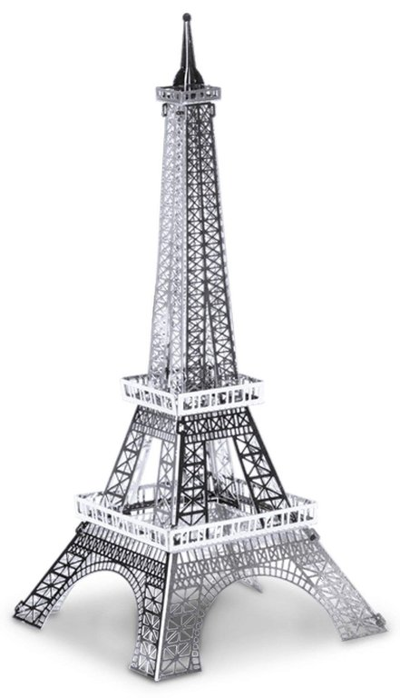 Metal Earth 1016 Eiffelturm 13 Teile 3D-Metall-Bausatz Silver-Edition