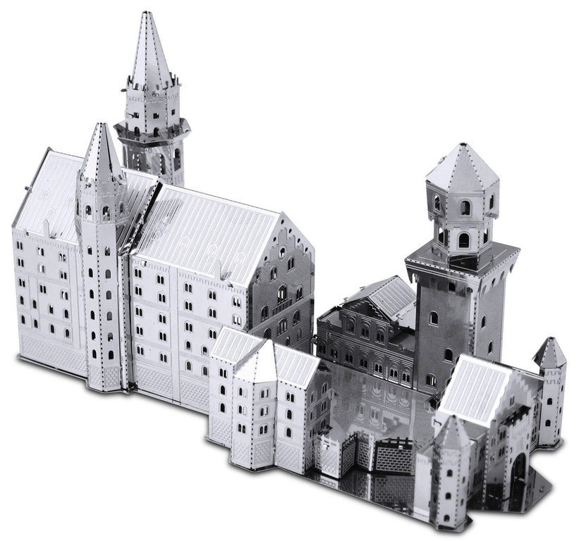 Metal Earth 1018 palace neuschwansteon (33 pieces) 3D-Metall-Construction Silver-Edition
