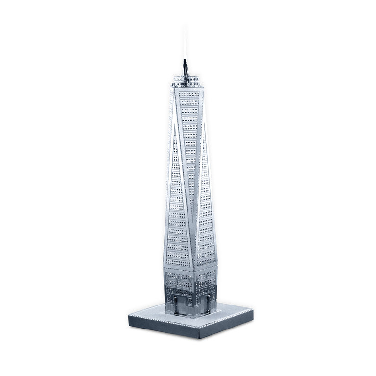 Metal Earth 1024 One World Trade Center 3D-Metall-Bausatz Silver-Edition