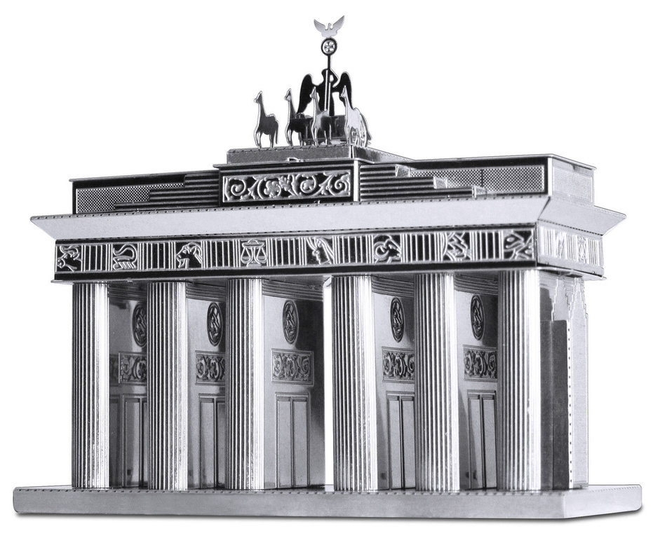 Metal Earth 1025 Brandenburger Tor 21 Teile 3D-Metallbausatz Silver-Edition