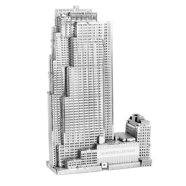 Metal Earth 1061 Rockefeller Plaza 3D-Metall-Bausatz Silver-Edition