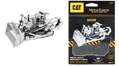 Metal Earth 1425 Dozer CAT 3D-Metall-Construction Silver-Edition