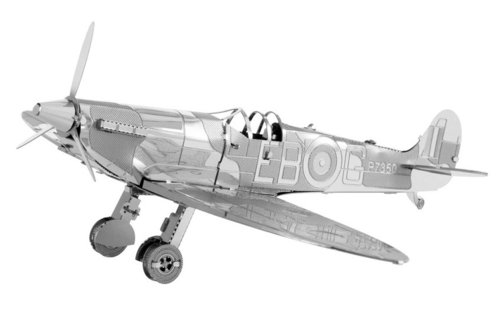 Metal Earth 1110 Supermarine Spitfire 3D-Metall-Bausatz Silver-Edition