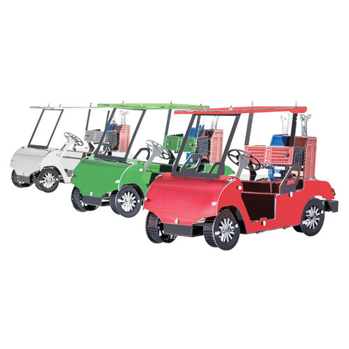Metal Earth 1108 Golf Cart Set 3D-Metall-Construction Silver-Edition