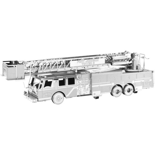 Metal Earth 1115 Fire Truck 3D-Metall-Construction Silver-Edition