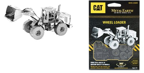 Metal Earth 1423 Wheel Loader CAT 3D-Metall-Construction Silver-Edition