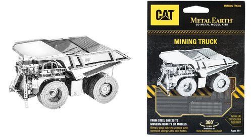 Metal Earth 1424 Mining Truck CAT 3D-Metall-Construction Silver-Edition