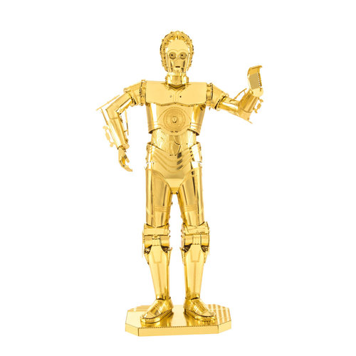 Metal Earth 1270 C-3PO Star Wars 3D-Metall-Bausatz Gold-Edition