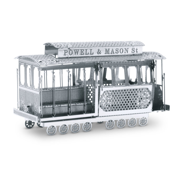 Metal Earth 1002 tram cable car 3D-Metall-Construction Silver-Edition