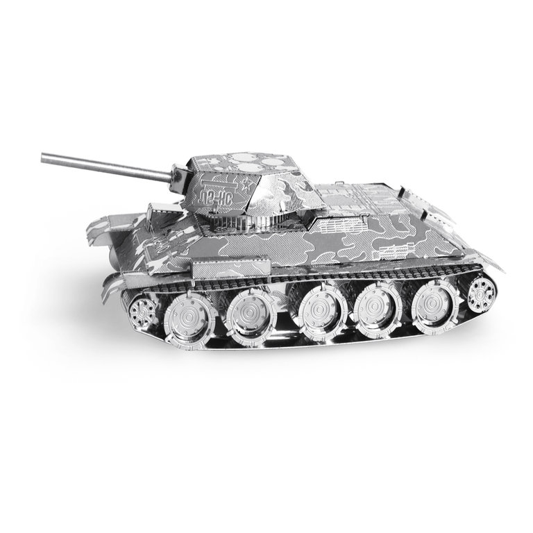 Metal Earth 1201 T-34 Tank 3D-Metall-Construction Silver-Edition