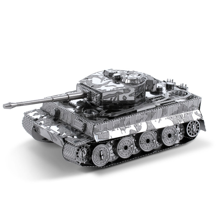 Metal Earth 1203 Tiger I Tank 3D-Metall-Construction Silver-Edition