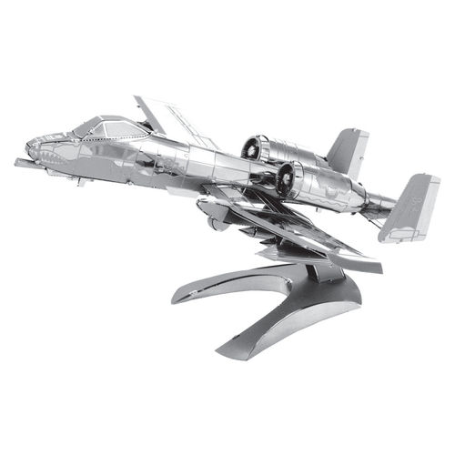 Metal Earth 1109 A-10 Thunderbolt II Warthog 3D-Metall-Bausatz Silver-Edition