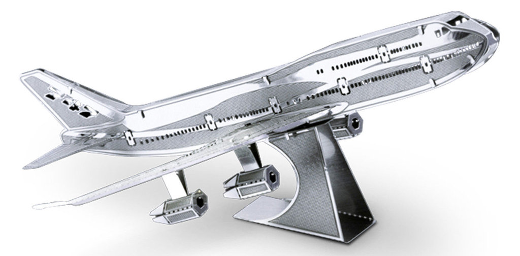 Metal Earth 1004 Commercial Jet Boeing 747  14 Teile 3D-Metall-Bausatz