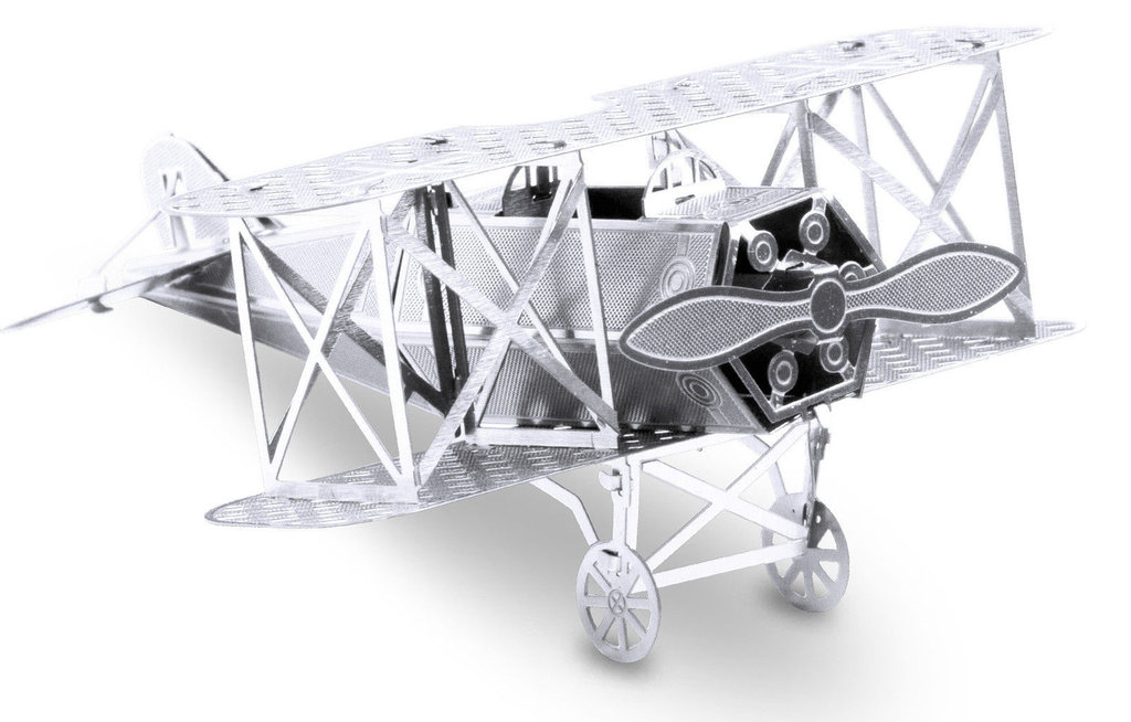Metal Earth 1005 Fokker D-VII 13 Teile 3D-Metall-Bausatz Silver-Edition Metal Earth 1005