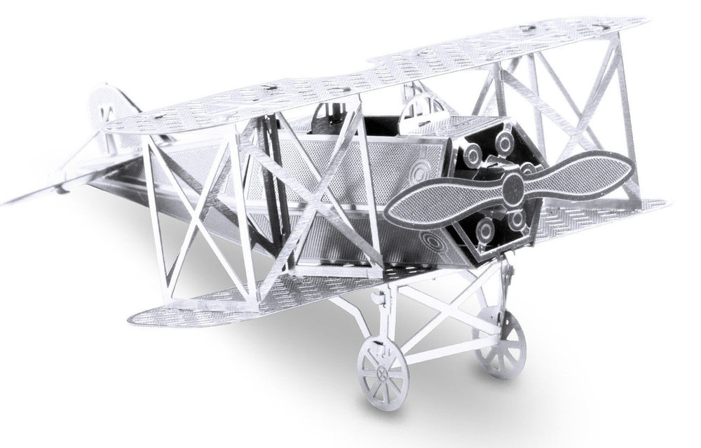 Fokker D-VII 13 Teile 3D-Metall-Bausatz Silver-Edition Metal Earth 1005