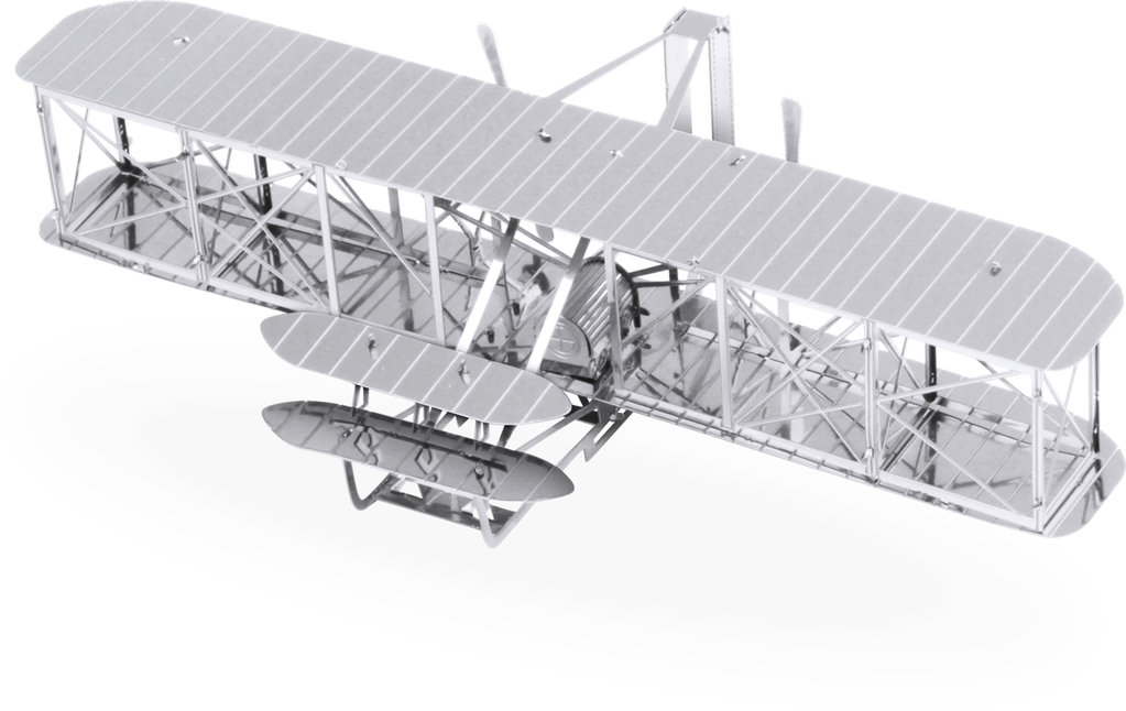 Metal Earth 1042 plane wright 3D-Metall-Construction Silver-Edition