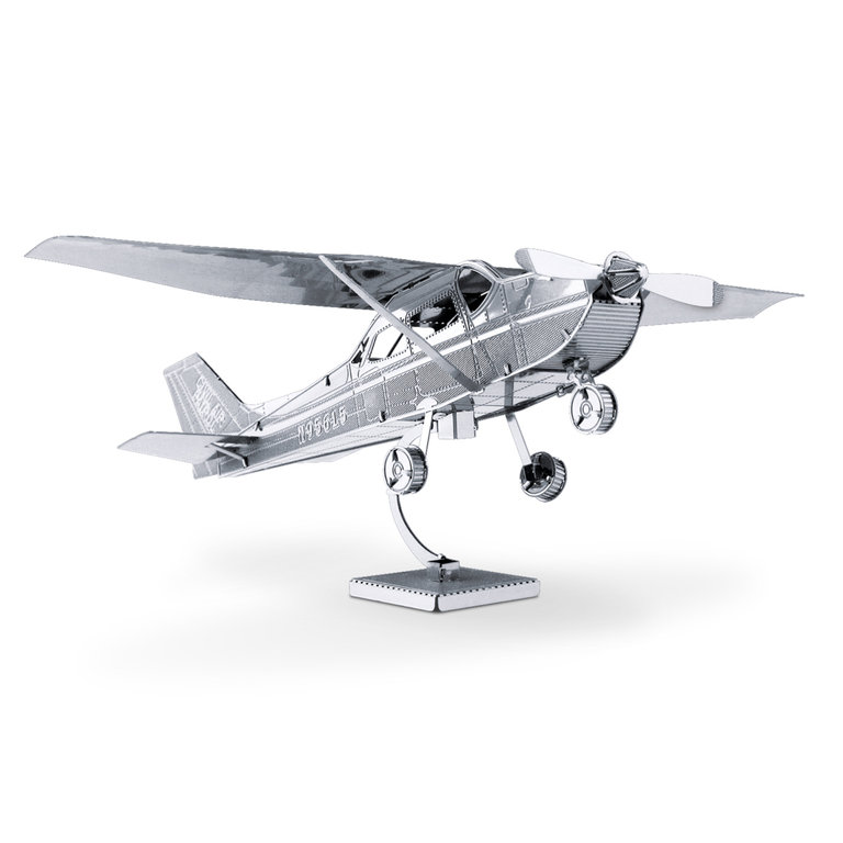 Metal Earth 1045 Cessna 172 Skyhawk 3D-Metall-Bausatz Silver-Edition