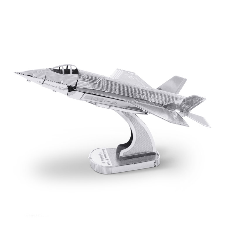 Metal Earth 1065 F-35A Lightning II  3D-Metall-Bausatz Silver-Edition