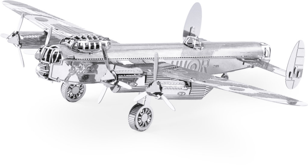 Metal Earth 1067 Lancaster Bomber 3D-Metall-Bausatz Silver-Edition