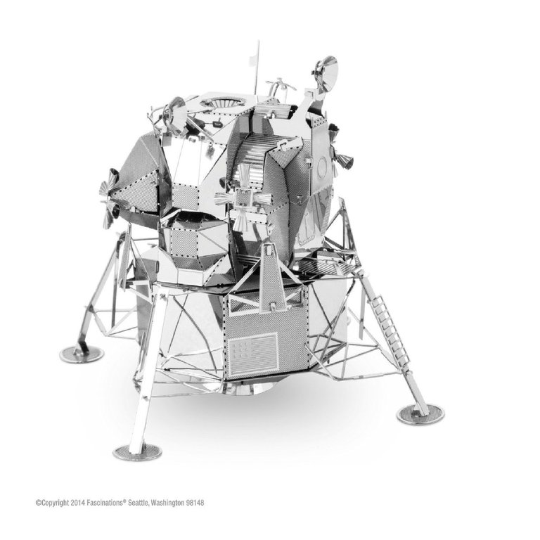 Metal Earth 1078 Apollo Lunar Module 3D-Metall-Bausatz Silver-Edition