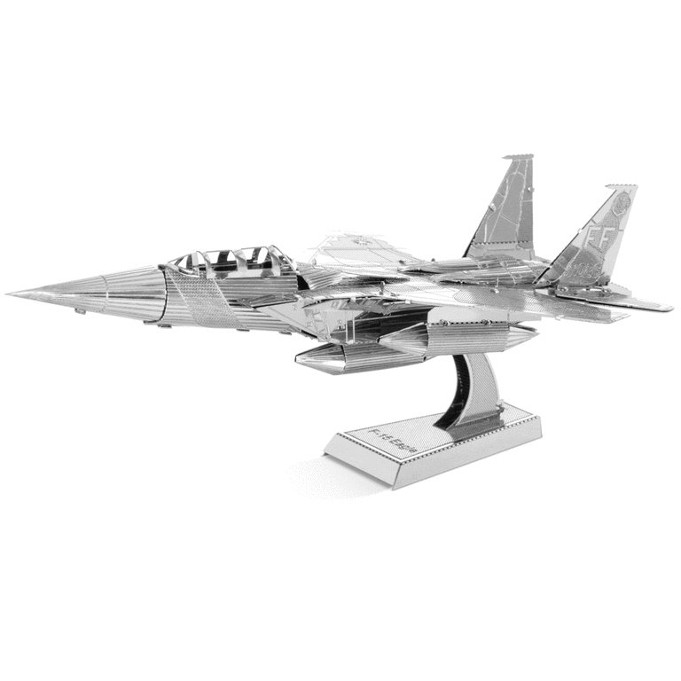 Metal Earth 1082 F-15 Eagle 3D-Metall-Bausatz Silver-Edition