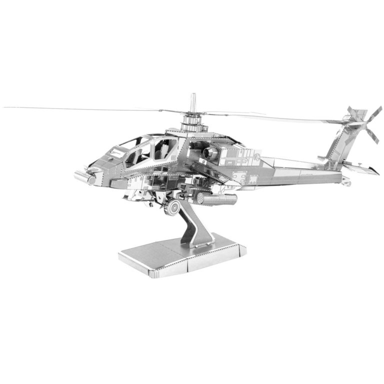 Metal Earth 1083 AH-64 Apache 3D-Metall-Bausatz Silver-Edition