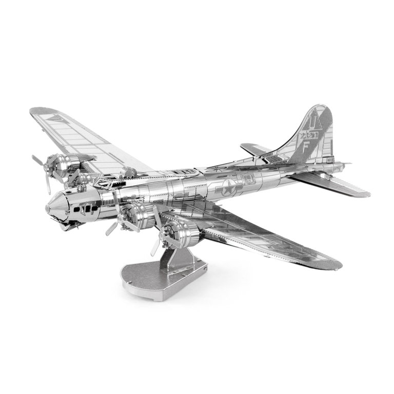 Metal Earth 1091 B-17 Flying Fortress 3D-Metall-Bausatz Silver-Edition