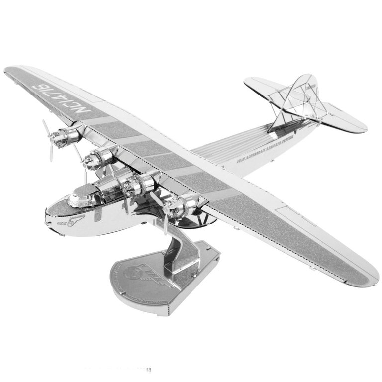 Metal Earth 1103 China Clipper PAN 3D-Metall-Bausatz Silver-Edition