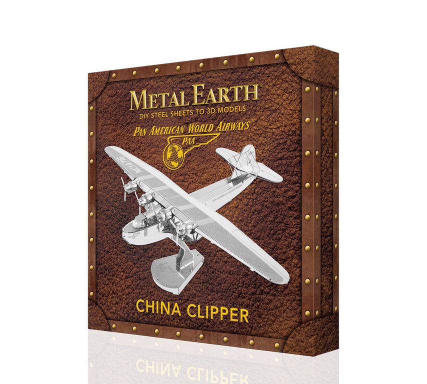 Metal Earth 3370 China Clipper PAN in Geschenkbox 3D-Metall-Bausatz