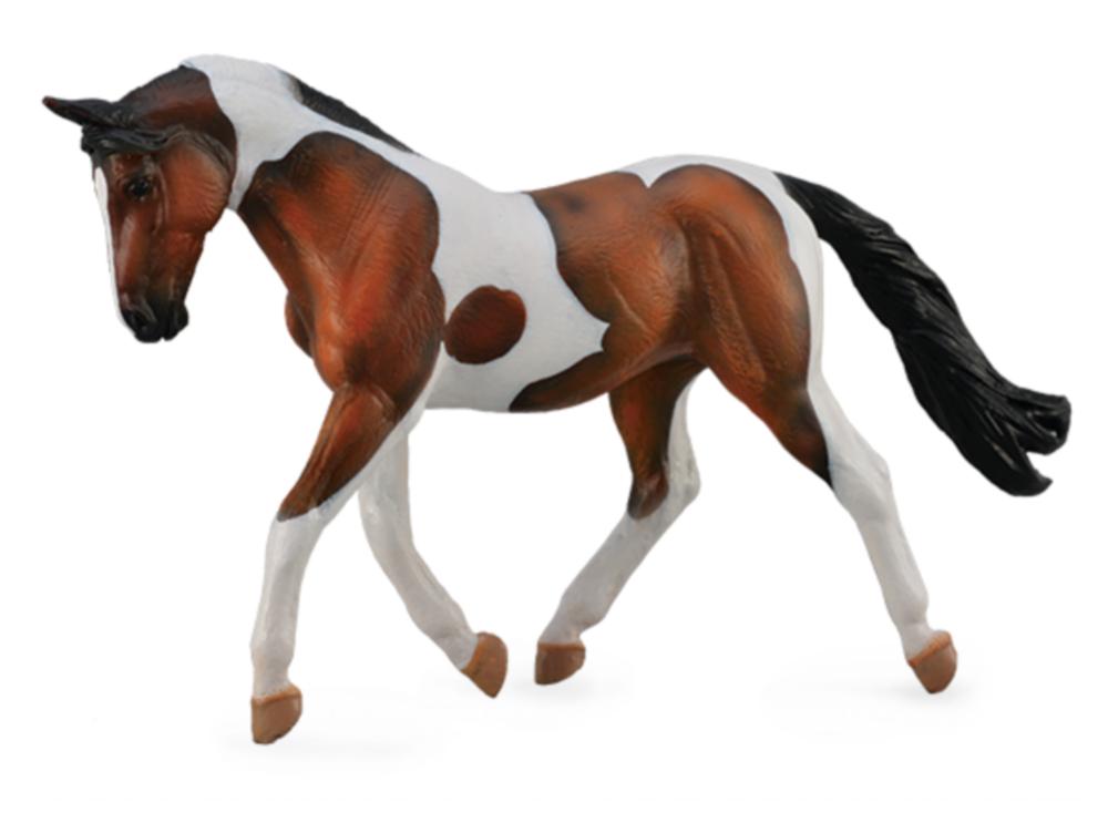 Pinto Stute Bay braun-weiß 16 cm Pferdewelt Collecta 88691