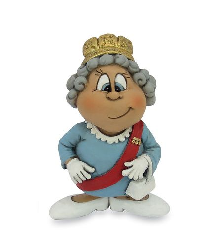 Les Alpes 015 72260 Queen Elisabeth II 9,5 cm synthetic resin Funny Decoration Series VIIIP