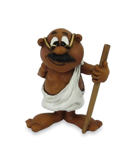 Les Alpes 015 72259 Mohandas Gandhi 8 cm synthetic resin Funny Decoration Series VIIIP
