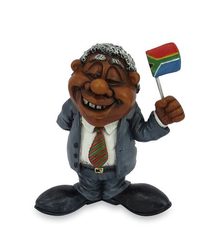 Les Alpes 015 72256 Nelson Mandela 9 cm synthetic resin Funny Decoration Series VIIIP