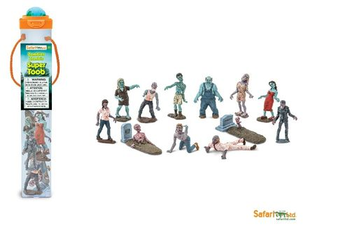 Safari Ltd 686004 Zombie (12 Minifiguren) Super Röhre Themengebiet