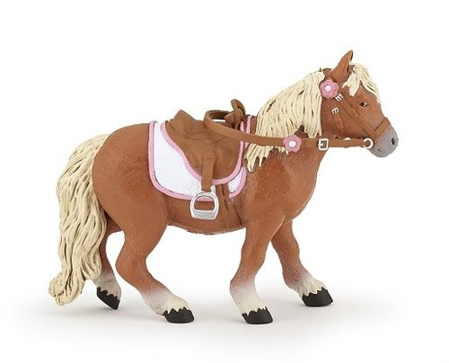 Papo 51559 shetland pony (with saddle) 10 cm Horses